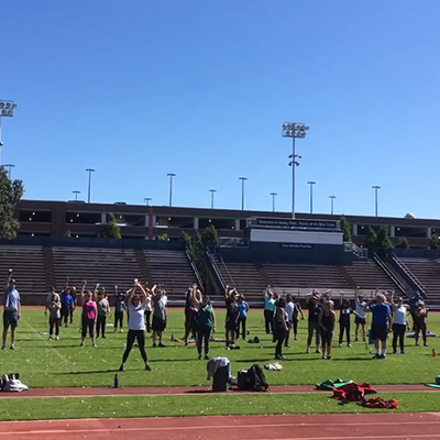 SRJC Fitness Class on Bailey Field